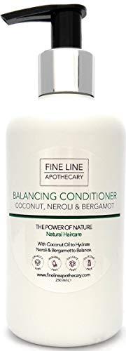 Natural ACONDICIONADOR - COCO, NEROLI & BERGAMOTA - 250 ml - por Fine Line Apothecary - Sin sulfatos, sin parabenos, sin productos químicos. Concentrado, fàcil de enjuagar