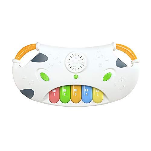 Duotar Bebê Piano Teclado Brinquedos Musicais,Bebê Piano Teclado Musical Toy 4 Modos Crianças Desenvolvimento Educacional Precoce Brinquedos com Luz Suave & Volume Ajustável
