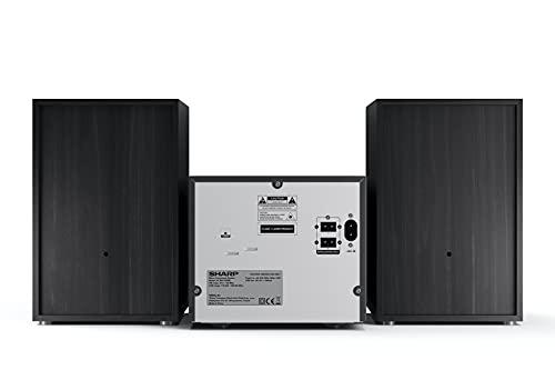 SHARP XL-B517D (BK) Stereo-Soundsystem (45 Watt, digitales Radio mit DAB+ und FM-Tuner, Bluetooth), schwarz