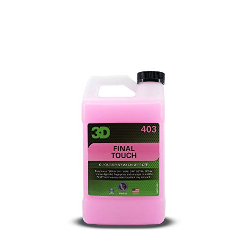 3D Final Touch - Quick Waterless Detailer Spray & Dust Remover with Wax Protection for Auto Maintenance & Showroom Shine 64oz.