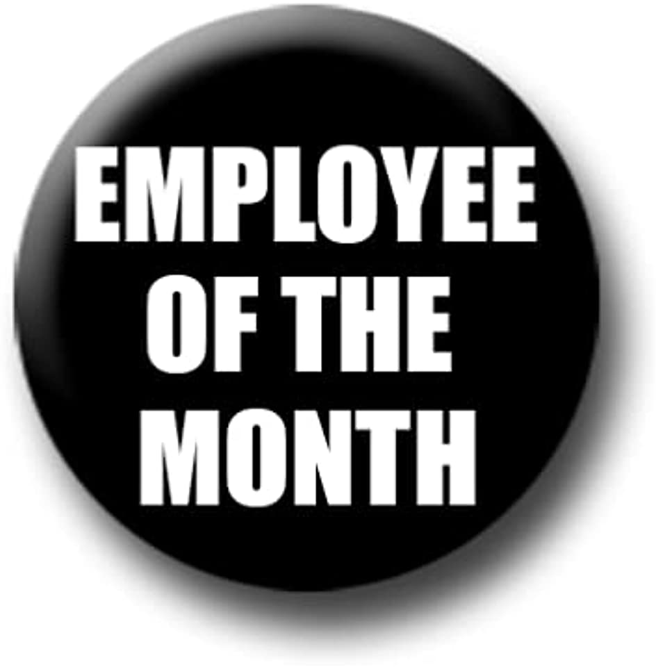 Employee Of The Month Pin Badge (25 mm / 1 inch)