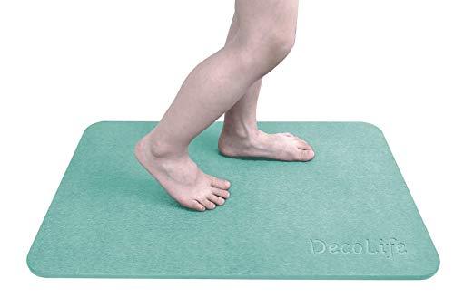 DecoLife Magic Diatomaceous Earth Bath Mat, Absorbent Quick Dry Nonslip Bathroom Floor Mat, Diatomite Bathmat for Kids and Elderly