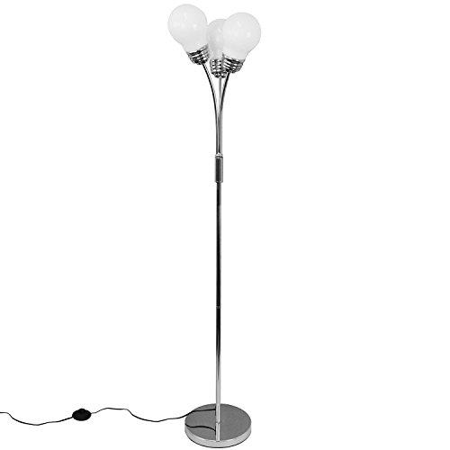 Grundig 871125248726 Floor Lamp Triple light, Glas, silber, 12 x 12 x 140 cm