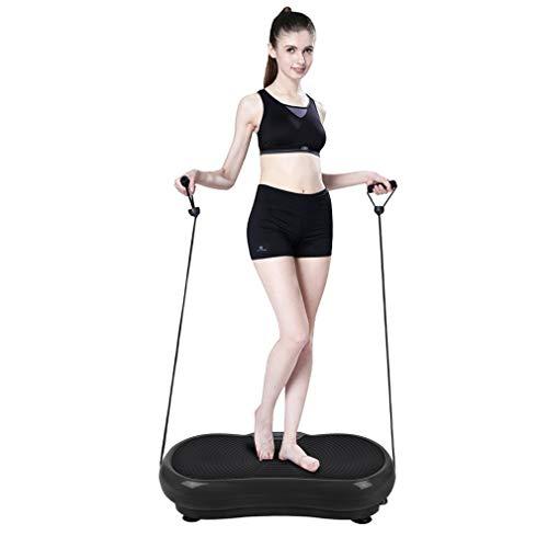 Kunyoxiu Vibrationsplatte Ganzkörper Sportgerät - Vibration Shaper Platte Fitness Training Bauch Beine Po - Sport Gerät mit Bändern LCD Display