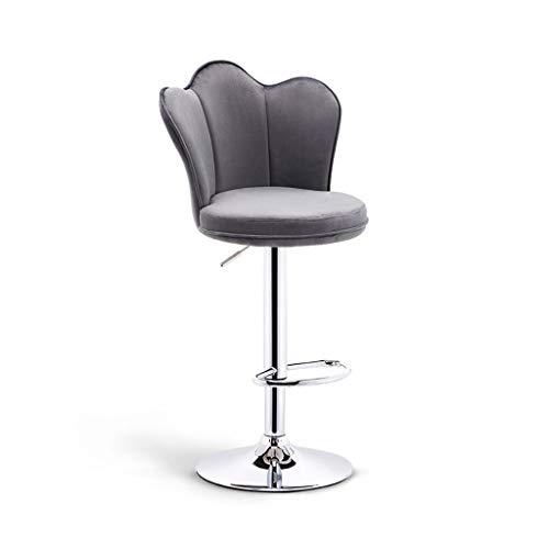 CHY Las Heces Barra De Metal Ajustable, Ajustables Backs Bar Taburetes con, Giratorio Taburetes Conjunto De 4, For La Cocina Ordenador Silla De Oficina (Color : Gray, Size : Bar stools Set of 2)