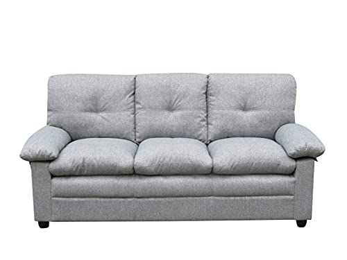 MUEBLIX.COM | Sofa 3 Plazas Coast | Sofas de Salón Modernos | Asientos y Respaldo Espuma | Sofa Tapizado en Tela | Color Gris