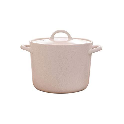 CJTMY Llama Gran Capacidad Resistente a Altas temperaturas cazuela de Barro Crisol de Arcilla crisol de la Sopa Olla de cerámica del pote