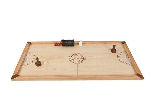 Jeu de Palet - c'est une version extra rapide de air-hockey en bois. La planche est 130 cm x 70 cm et inclut 2 poignets, 1 palet acrylic et 30 gr. de poudre.