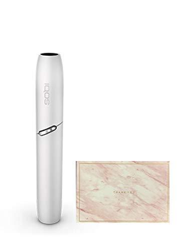 <製品未登録品>IQOS3 アイコス3 DUO ホルダー 単品 日本国内正規品 2本連続可 と<想い伝えるオリジナルメッセージカード ピンク > (ウォームホワイト)