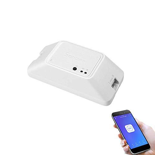 SONOFF RFR3 Interruptor para Control de Luces Inalámbrico por RF Wi-Fi Inteligente, Módulo Universal para Bricolaje para Solución de Automatización Domótica. Funciona con Amazon Alexa y Google Home