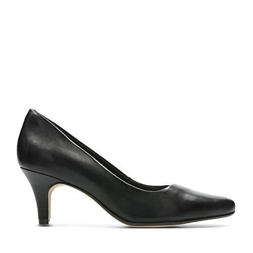 Clarks Isidora Faye, Zapatos de Tacón para Mujer, Negro (Black Leather-), 39.5 EU