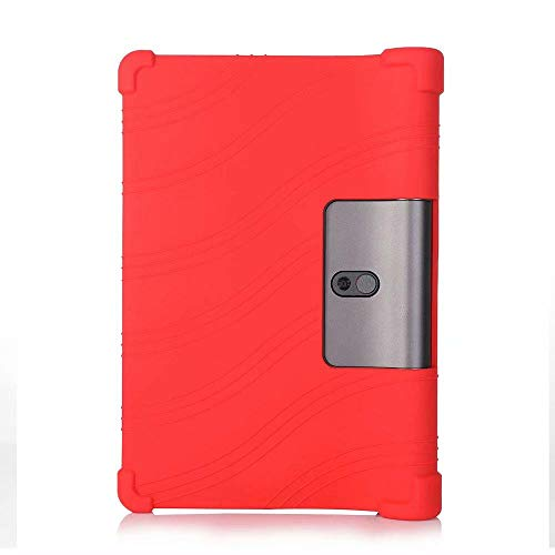 Tablet Shell Funda for Lenovo Yoga Tab 5 YT-X705F YT-X705X X705F X705X 10.1 Case Soft Silicon Plastic Kickstand Cover Funda-silicon case