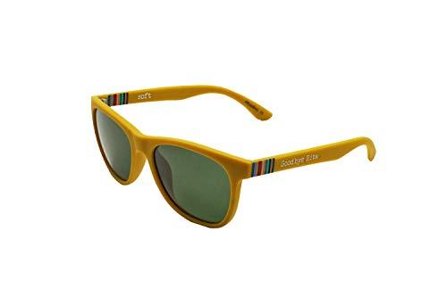 Goodbye, Rita. - Gafas de sol Polarizadas Mostaza - Tacto engomado - Lente Ahumada - Modelo Sheeran
