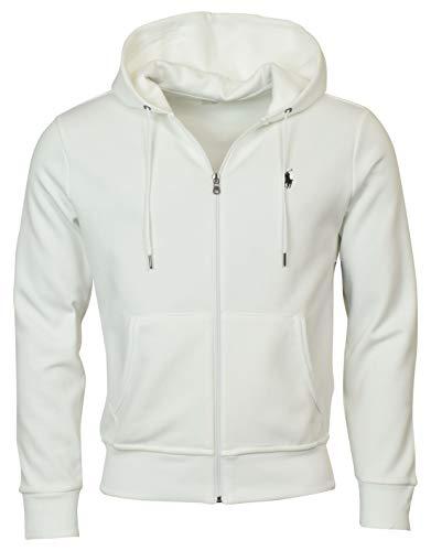Polo Ralph Lauren Men's Double-Knit Full-Zip Hooded Sweatshirt - XL - White