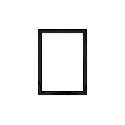 Cadre Photo Brillant - avec Panneau arrière en MDF - Prêt à être accroché - avec Une Feuille de plexiglas incassable en styrène Haute clarté - Noir - 40,6 x 30,5 cm