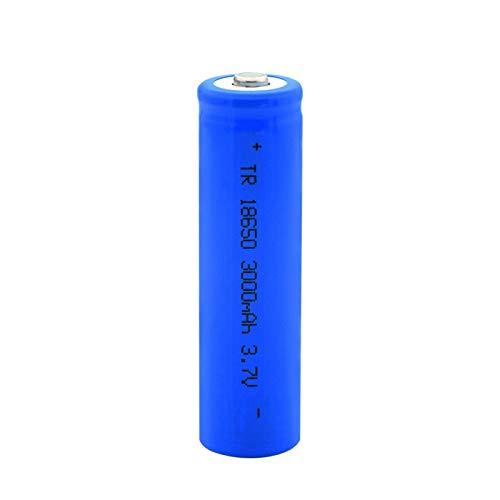 THENAGD Batería De Litio Puntiaguda 18650 3.7v 3000mah, Batería Recargable De Carga De Iones De Litio para Linterna 1pc