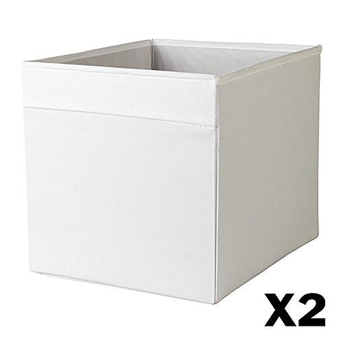 IKEA DRONA faltbar Aufbewahrungsbox 2er Pack (weiß)