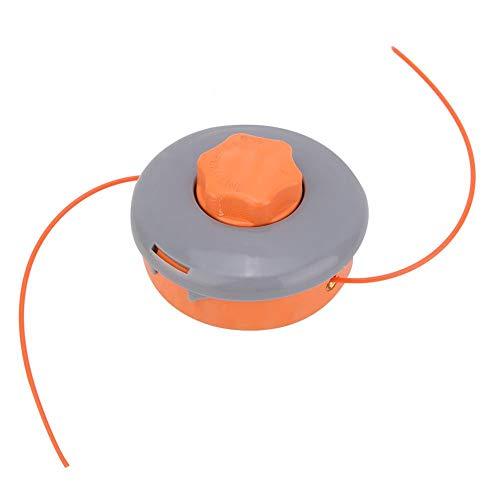 Fdit Cabezal de recortador de Gasolina de Doble Cabezal Cabezal de Recorte de alimentación por Golpe Apto para desbrozadora
