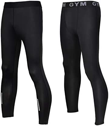 Mudere 2 Pack Men s Compression Pants Dry Sports Baselayer Running Workout Tights Leggings Yoga product image