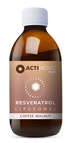 Liposomales Resveratrol | Kaffee & Walnuss 250ml | hochdosiertes Polyphenol | Pflanzliche Antioxidation | Tagesdosis 200 mg Resveratrol | hohe Bioverfügbarkeit | flüssig | ohne Zusätze | vegan