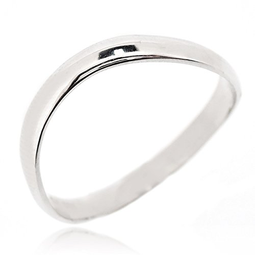 SOVATS Chic Thumb Ring for Women 925 Sterling Silver Rhodium Plated - Simple, Stylish &Trendy Nickel Free Ring, Size 7