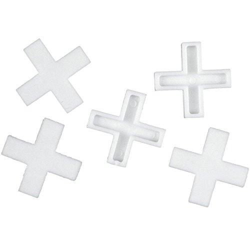 Connex Fliesenkreuze 8,0 mm - Praktisches Set mit 200 Stück - Aus robustem Kunststoff - weiß / Fliesenzubehör / Fliesenverlegehilfe / Fliesen-Abstandhalter / COX792010