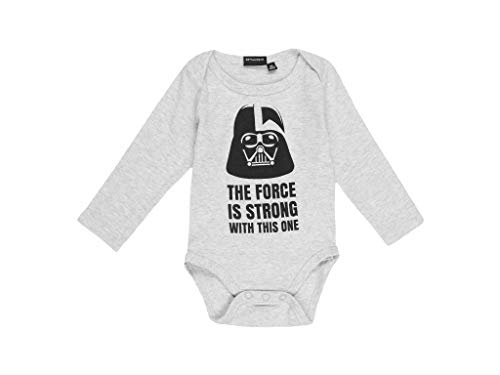 Star Wars - Body para bebé gris 74 cm