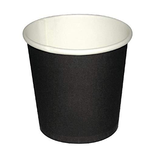 Fiesta Espresso To Go Becher 114ml , 50 Stück, schwarz, 9849