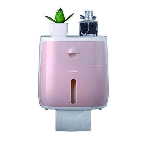 KXYF Toilettenpapier-Box, Toilettenpapier-Spender,Wandmontage,Selbst Aufbewahrungsbox mit Schublade, ohne Bohren, Wasserdichter staubdichter...