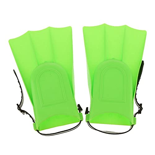 BOJSQ Aletas de buceo para niños y adultos, aletas ajustables para natación, buceo, aletas de natación, color verde, S: 25-30 (color: verde)