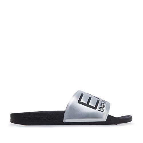 Emporio Armani - Zapatilla EA7 Slipper - XCP001 XCC22 A854 P - Silber, 42