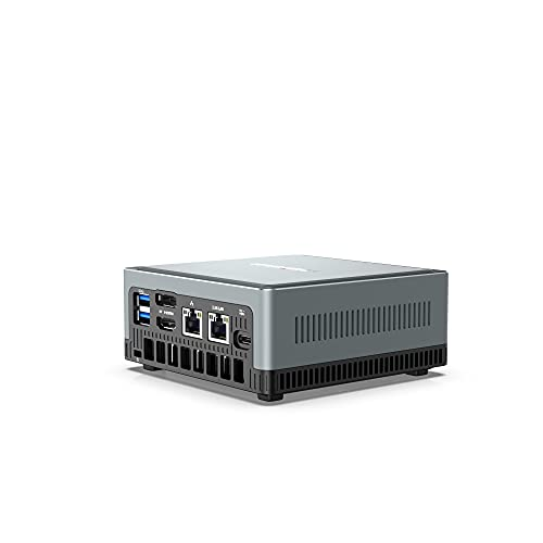 Mini PC Intel Core i5-8259U | 16GB RAM 512GB PCIe SSD | Gráficos Intel Iris Plus 655 | Windows 10 Pro | Intel WIFI6 AX200 BT 5.1 | HDMI/DP/USB-C | 2X RJ45 | 4X USB 3.0 | Factor de Forma Pequeña