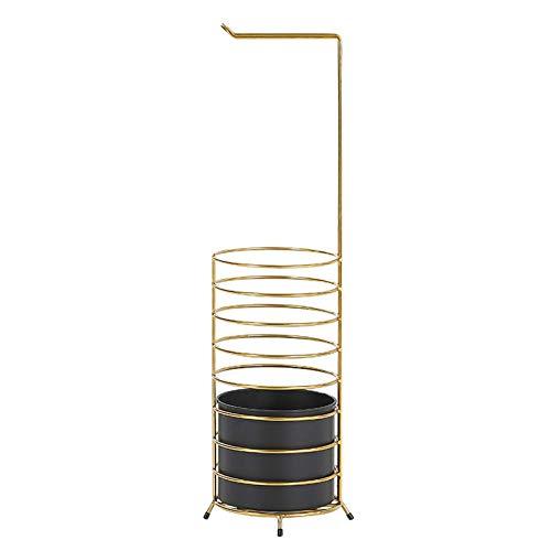 XCZZYC Soporte de Paraguas de Metal con Estructura de Marco Redondo de Estilo Simple de Moda, Cubo de Paraguas, con Cubo extraíble, Almohadilla de pie Antideslizante, para el vestíbulo del Hotel de
