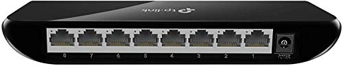 TP-Link 8 Port Gigabit Ethernet Network Switch | Plug and Play | Desktop or Wall-Mount | Plastic Case Ethernet Splitter | Fanless | Traffic Optimization | Unmanaged (TL-SG1008D)