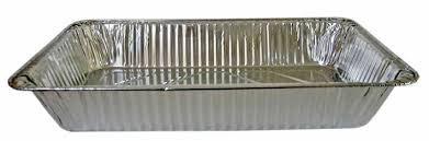 6 x maxi grand Plat four jetable restauration aluminium rectangulaire 52cmx32,5cmx5,5cm