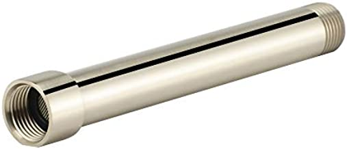 Shower Arm Extension, Shower Head Extender Water Outlet Lowers Existing Shower Head, Brushed Nickel Finish Made of Solid Metal by Purelux