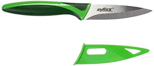 ZYLISS Couteau d'office avec fourreau, lame en acier inoxydable, 8,9 cm, vert