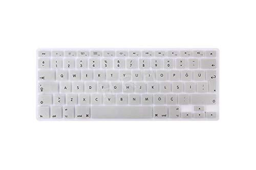 Keyboard Cover Keypad Skin Silicone Turkish Language Eu/Uk For Macbook Air Pro Retina 13 15 17 For Macbook Air 13.3-Metallic Silver