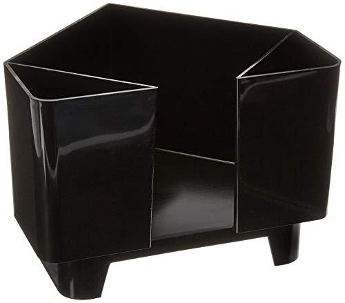 Co-Rect Plastic Bar Caddy with Triangular Design, Black