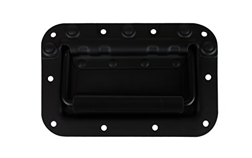 Penn Elcom H7154K Spring Loaded Rivet Protected Recessed Handle for Rolling and Flight Cases, Black