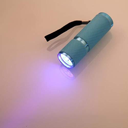 China, giallo: lampada LED 2017nuovi per dispositivi medici mini alluminio UV ultravioletti 9LED torcia nero