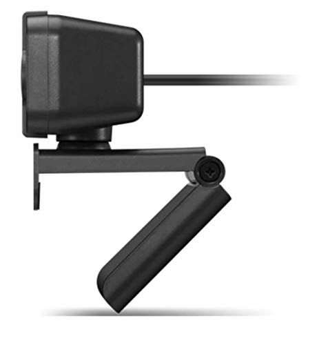 Lenovo FHD Webcam with Full Stereo Dual Built-in mics   FHD 1080P 2.1 Megapixel CMOS Camera  Ultra-Wide 95° Lens, 4X Digital Zoom   360° Rotation   Flexible Mount (4XC1B34802)
