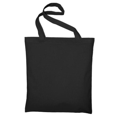 Bags By Jassz- Bolsa de mano/ de la compra de algodón grande (Talla Única/Negro)