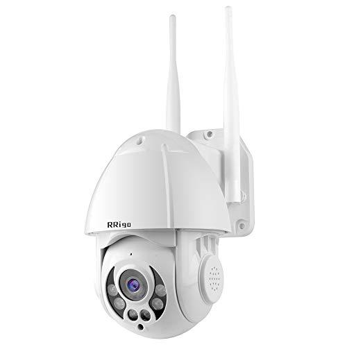 RRigo PTZ bezprzewodowa kamera IP do monitoringu, 1080p, na zewnątrz, IP66, wodoszczelna, podwójne audio, Pan Tilt, 4-krotny zoom cyfrowy, obsługa ONVIF NVR