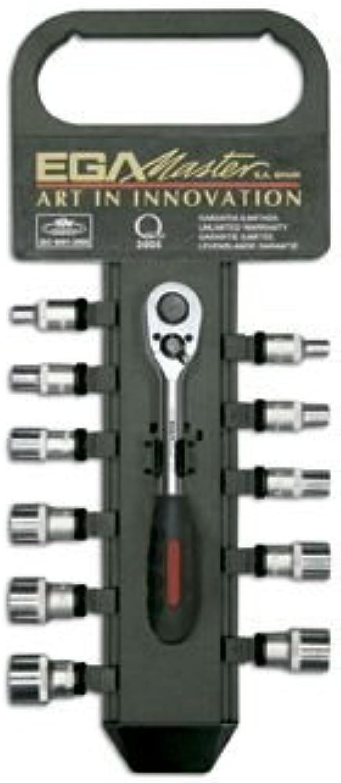 EGA Master 61324 – Set Set Set von 11 Steckschlüsseleinsätze und Umschaltknarre 1 10,2 cm in Kunststoff Aufhänger (Zoll) B017L2HJBC | Smart  bc1e6a