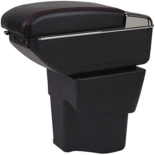 Coche Apoyabrazos Para Caja De Almacenamientode Consola Central para Kia RIO, Con Cenicero Y Portavasos Puerto Usb Interior Accesorios