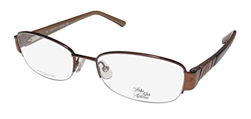 Saks Fifth Avenue Saks Fifth Avenue 275 0TE7 Brown Sand Eyeglasses