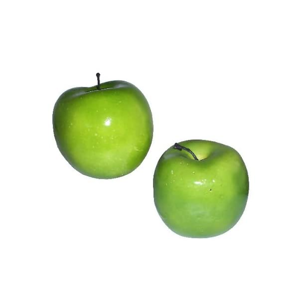fruits 2pc Artificial Fake Green Apple