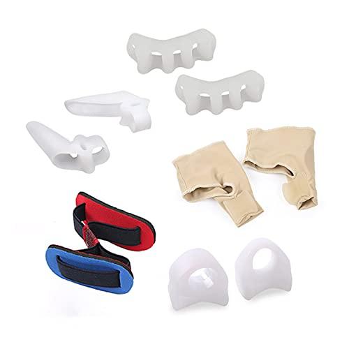 Aibabely Corrector de juanetes, kit de corrector de juanetes, mangas protectoras Hallux Valgus, separadores de dedos de los pies, alisadores