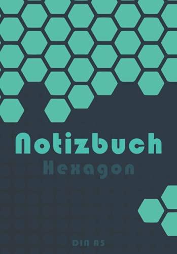 Hexagon Notizbuch | DIN A5: Sechseck-Rasterpapier (Wabenpapier) | 120 Seiten